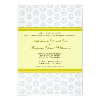 Citrus Decorative Stamp Formal Wedding Invitation