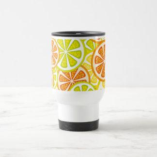 citrus design stainless steel travel mug