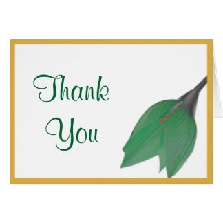 Citrus Flower Thank You Note Greeting Card