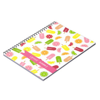 Citrus Fruit Ice Pop Personalized Notebook