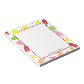 Citrus Fruit Ice Pops Personalized Notepad