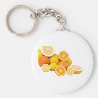 citrus fruit key chains