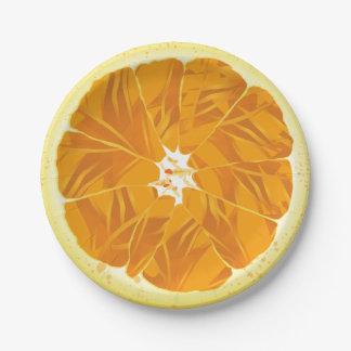 Citrus Fruit Orange Slice Paper Plate