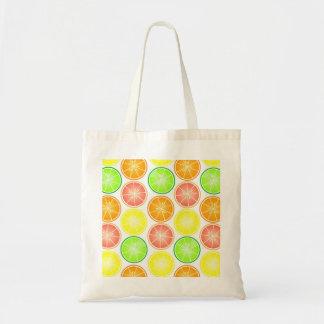 Citrus Fruit Print - Lemon Lime Orange Grapefruit Tote Bag