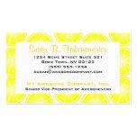 Citrus Fruit Print - Sliced Lemons Pack Of Standard Business Cards
