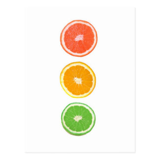 citrus fruit slice postcard