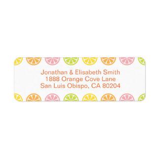 Citrus Fruit Slices Summer Return Address Label