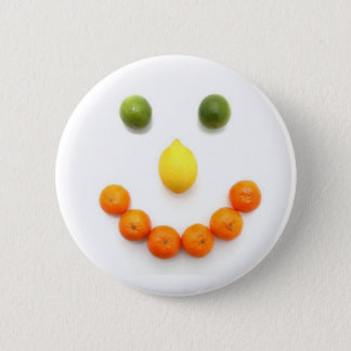 Citrus Fruit Smiley Smile 6 Cm Round Badge