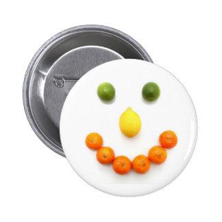 Citrus Fruit Smiley Smile 6 Cm Round Badge