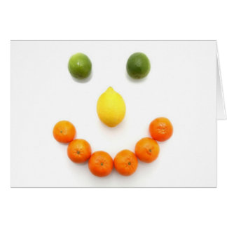 Citrus Fruit Smiley Smile Greeting Cards