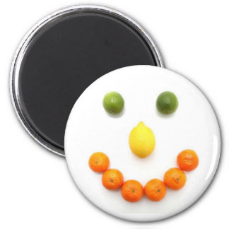 Citrus Fruit Smiley Smile Magnet