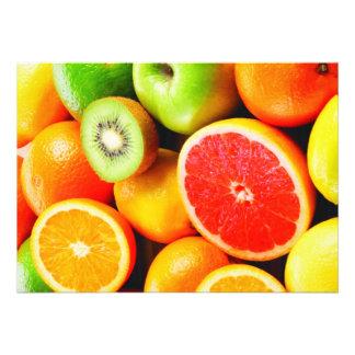 Citrus Fruit Vibrant Colors Invites