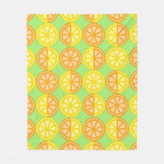 Citrus Fruits Fleece Blanket