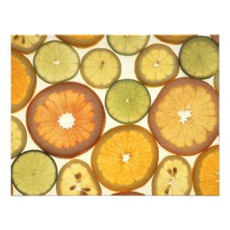 Citrus fruits custom invites