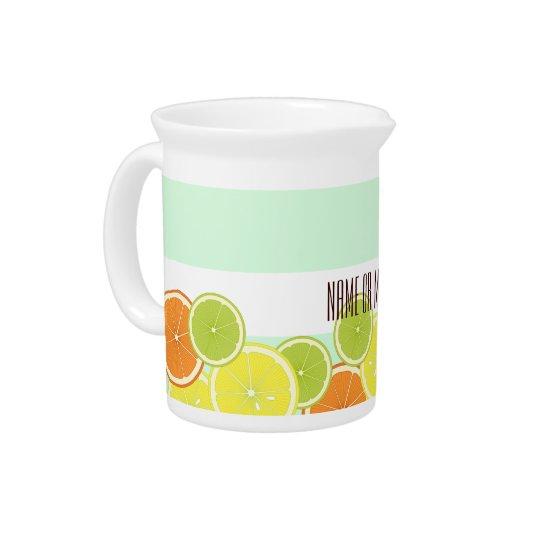 Citrus Fruits Pattern Cute Modern Summer Custom Pitcher