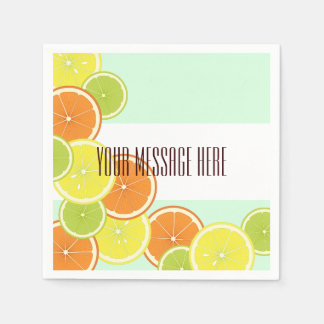 Citrus Fruits Pattern Cute Modern Summer Party Disposable Napkin