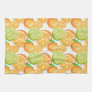 Citrus Fruits Watercolor Tea Towel