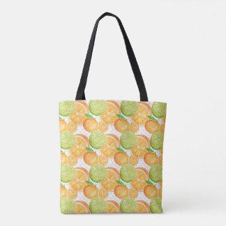 Citrus Fruits Watercolor Tote Bag