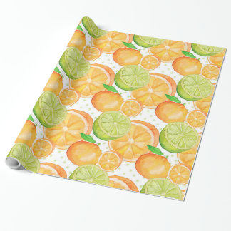 Citrus Fruits Watercolor Wrapping Paper