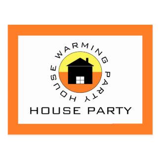 Citrus House Logo, Housewarming Party Invitation Postcard