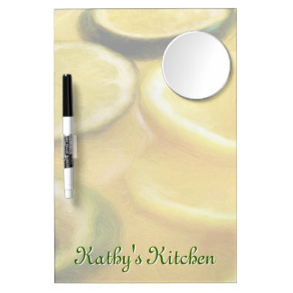 Citrus Lemon and Lime Slices Dry Erase Board