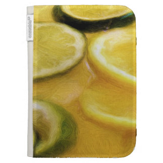 Citrus Lemon Lime Kindle Folio Cases