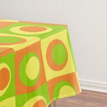 Citrus Lemon, Lime, Orange Medium Circles Tablecloth