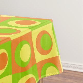 Citrus Lemon, Lime, Orange Medium Circles Tablecloth
