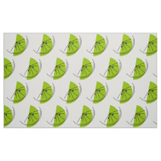 Citrus Lime fabric large print