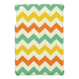 Citrus Lime Green Orange Yellow Chevron Zigzags iPad Mini Cases