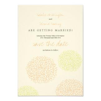 Citrus & Lime Modern Flowers Save the Date 13 Cm X 18 Cm Invitation Card