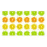 Citrus Lime, Orange, and Lemon Polka Dot Slices Pack Of Standard Business Cards
