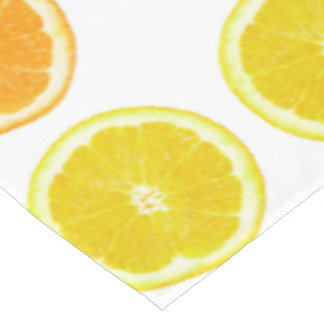 Citrus Lime, Orange, and Lemon Polka Dot Slices Tablecloth