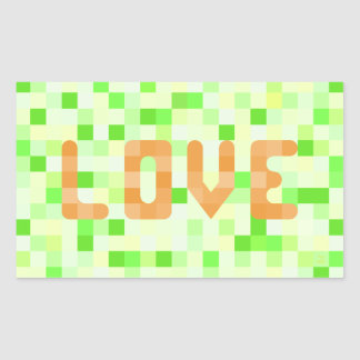 Citrus Love Rectangular Sticker