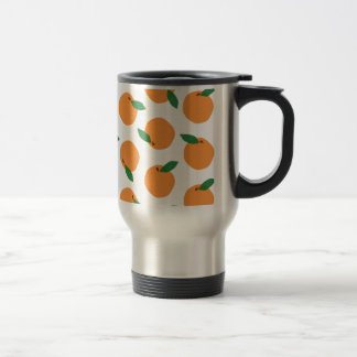 Citrus Orange Print Stainless Steel Travel Mug