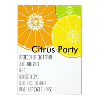 Citrus Party Invitation