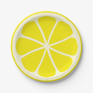 Citrus Party Lemon 7 Inch Paper Plate