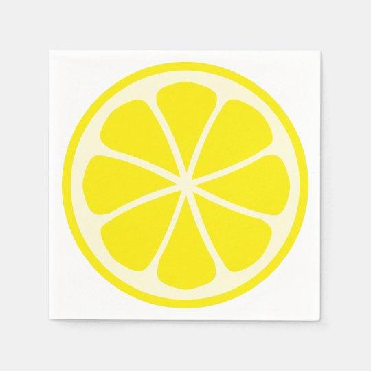 Citrus Party Lemon Paper Napkins