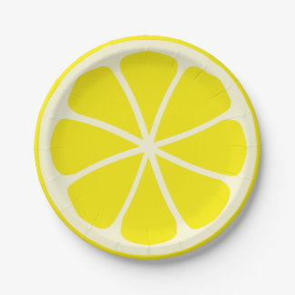 Citrus Party Lemon Paper Plate