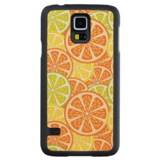 Citrus Pattern 2 Carved Maple Galaxy S5 Case