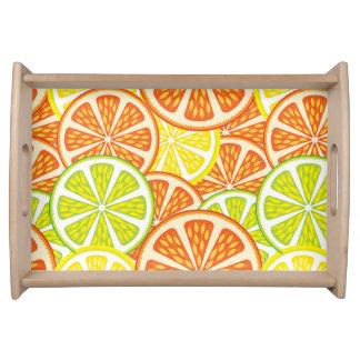 Citrus Pattern 2 Food Tray