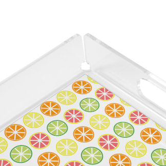 Citrus Pattern Acrylic Tray