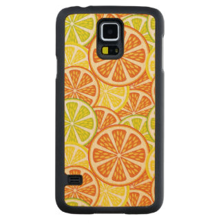 Citrus pattern carved maple galaxy s5 case
