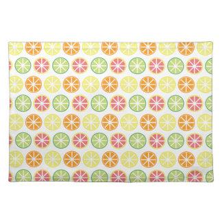 Citrus Pattern Cloth Placemat