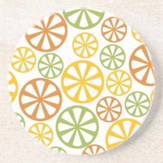 Citrus Pattern custom coaster