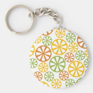 Citrus Pattern key chain
