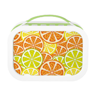 Citrus pattern lunch box