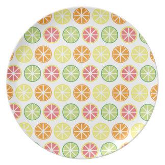 Citrus Pattern Melamine Plate