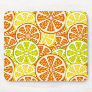 Citrus pattern mouse pad