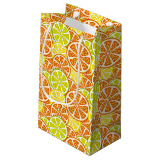 Citrus pattern small gift bag